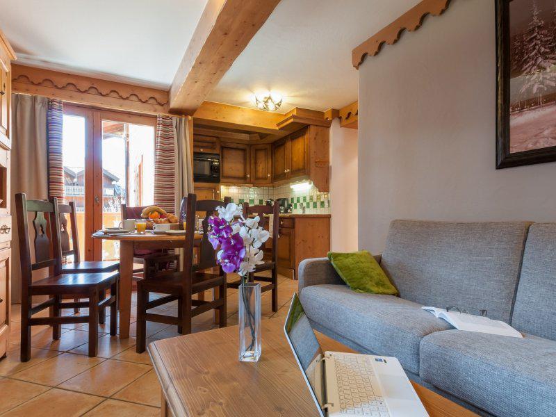 Аренда на лыжном курорте Апартаменты 2 комнат  4-6 чел. - Résidence P&V Premium les Fermes du Soleil - Les Carroz