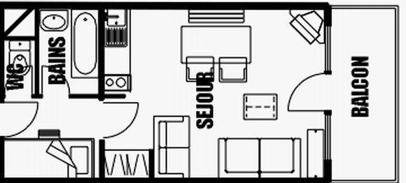 Location au ski Studio cabine 5 personnes (02) - Residence Closeau - Les Carroz