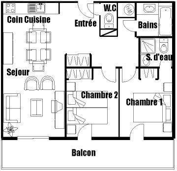 Location au ski Appartement 3 pièces 6 personnes (07) - Residence L'ize - Les Carroz