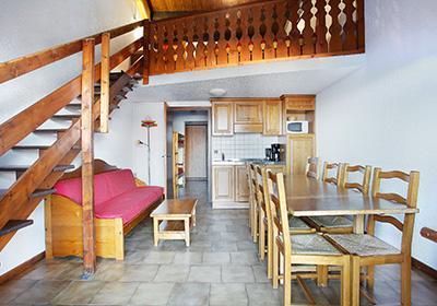 Location 8 personnes Appartement 2 pièces mezzanine 7-8 personnes - Residence Le Front De Neige