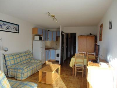 Location au ski Studio 4 personnes (13) - Residence Les Rhodos - Les Carroz - Extérieur hiver