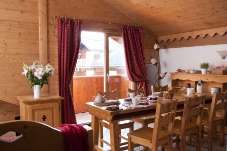 Alquiler al esquí Résidence P&V Premium les Fermes du Soleil - Les Carroz - Comedor