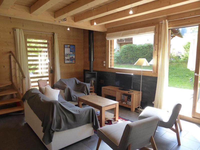 Аренда на лыжном курорте Шале дуплекс 5 комнат 8 чел. - Chalet Champelet - Les Contamines-Montjoie - Салон