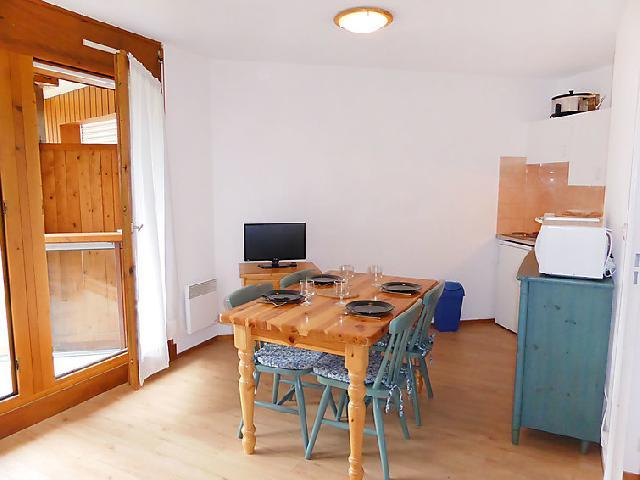 Rent in ski resort 1 room apartment 4 people (14) - L'Enclave I et J - Les Contamines-Montjoie - Open-plan kitchen