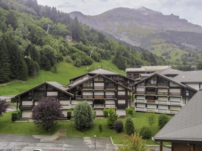 Аренда на лыжном курорте Апартаменты 2 комнат 4 чел. (19) - Les Combettes D et E - Les Contamines-Montjoie - зимой под открытым небом