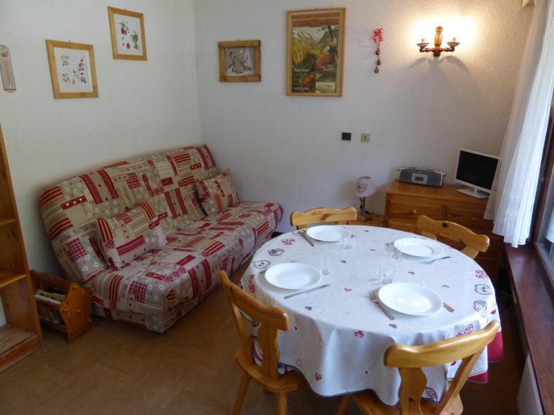 Rent in ski resort 2 room apartment 4 people (18) - Résidence la Tapia - Les Contamines-Montjoie - Living room