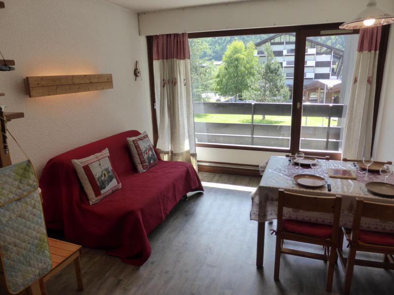 Аренда на лыжном курорте Квартира студия со спальней для 5 чел. (F1E) - Résidence le Brulaz - Les Contamines-Montjoie - Сиденье банкетка