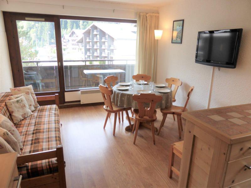 Wynajem na narty Apartament 3 pokojowy 6 osób (D75/R571) - Résidence Rochasset - Les Contamines-Montjoie - Pokój gościnny