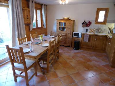 Rent in ski resort 4 room chalet 6 people - Chalet Goh - Les Contamines-Montjoie - Table