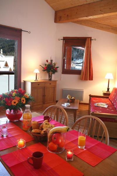 Location au ski Appartement 4 pièces 8 personnes - Residence Le Nevez - Les Contamines-Montjoie - Séjour