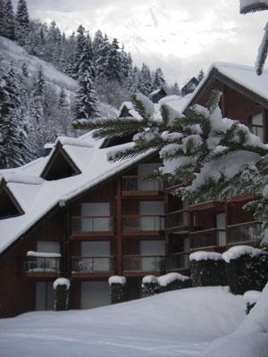 Location au ski Residence Le Nevez - Les Contamines-Montjoie - Extérieur hiver