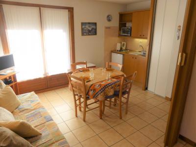 Аренда на лыжном курорте Квартира студия со спальней для 4 чел. (A118) - Résidence les Cimes d'Or - Les Contamines-Montjoie - Столова&