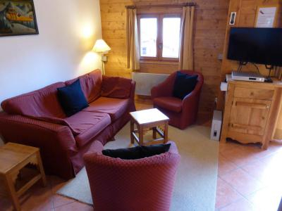 Rent in ski resort 2 room duplex apartment 6 people (FLOR6) - Résidence les Lapons - Les Contamines-Montjoie - Living room