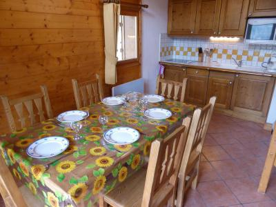 Rent in ski resort 2 room duplex apartment 6 people (FLOR6) - Résidence les Lapons - Les Contamines-Montjoie - Table