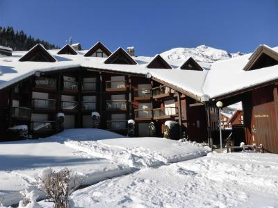 Rent in ski resort Résidence Pierres Blanches - Les Contamines-Montjoie - Winter outside