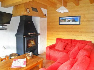 Location au ski Chalet Portes du Soleil - Les Gets - Cheminée