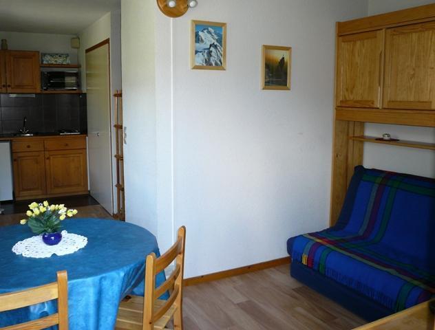 Location au ski Studio 4 personnes (28) - Residence Le Prarion 2 - Les Houches - Séjour