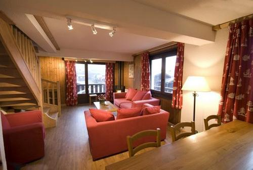 Location au ski Appartement duplex 5 pièces 10 personnes - Residence Les Balcons D'anaite - Les Houches - Séjour