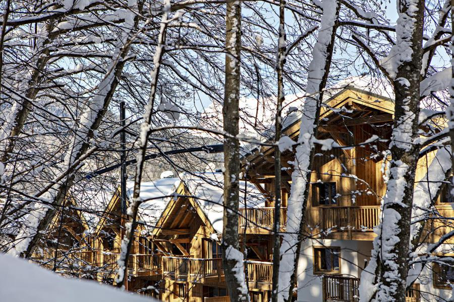 Vacances en montagne Les Chalets Eléna - Les Houches - Extérieur hiver