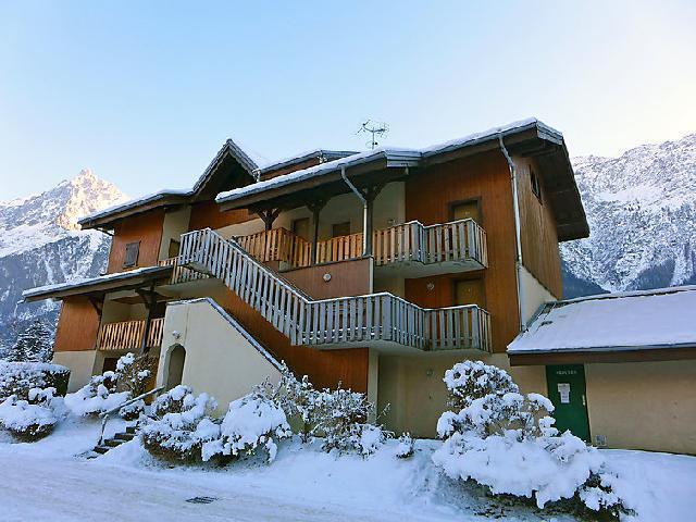 Vakantie in de bergen Appartement 1 kamers 3 personen (4) - Les Chamois - Les Houches - Buiten winter