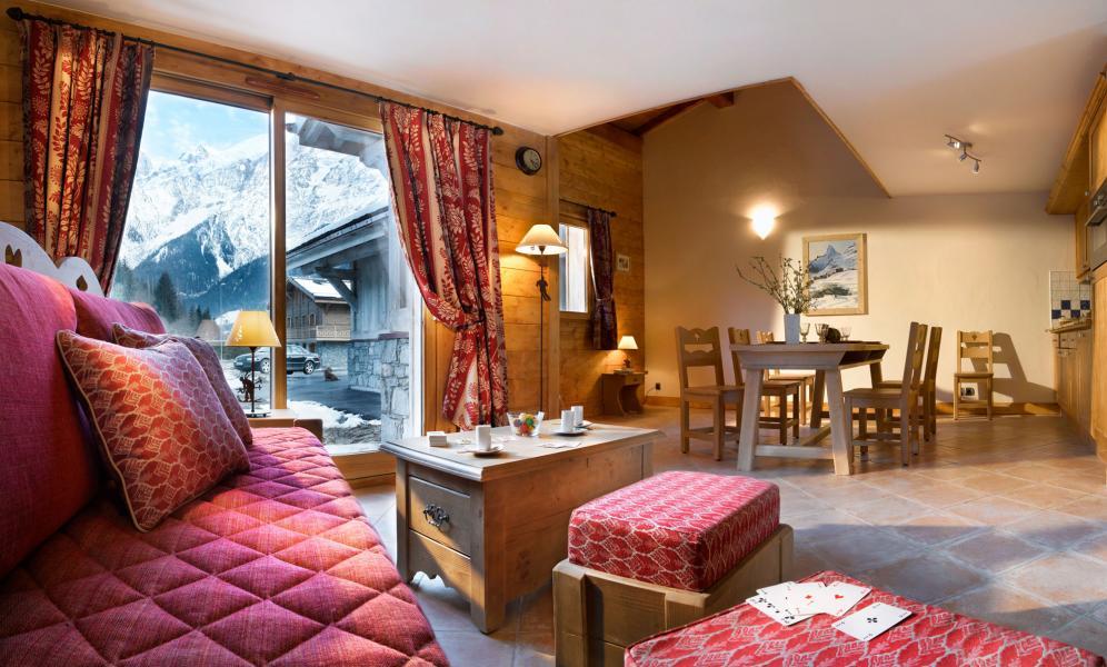 Location au ski Residence Le Hameau De Pierre Blanche - Les Houches - Séjour