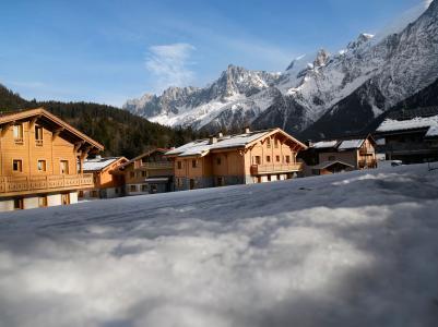 Location au ski Résidence le Hameau de Pierre Blanche - Les Houches - Extérieur hiver