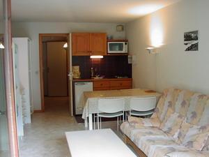 Location au ski Studio 4 personnes (C13) - Residence Le Prarion 2 - Les Houches - Canapé-lit