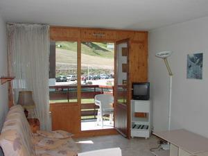 Location au ski Studio 4 personnes (C13) - Residence Le Prarion 2 - Les Houches - Séjour