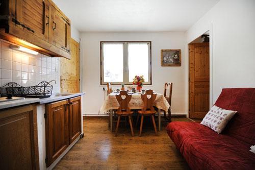 Location au ski Appartement 2 pièces coin montagne 4 personnes - Chalet Le Genepi - Les Menuires - Cuisine