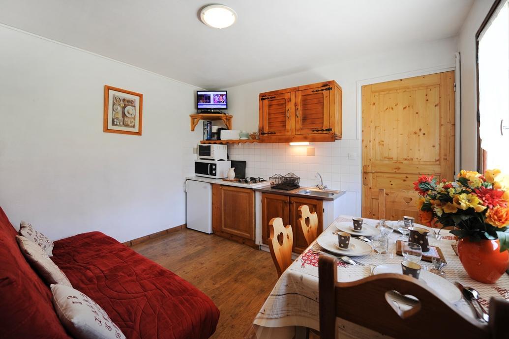 Location au ski Appartement 2 pièces coin montagne 4 personnes - Chalet Le Genepi - Les Menuires - Séjour