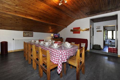 Location au ski Appartement 3 pièces 8 personnes - Chalet Le Genepi - Les Menuires - Coin repas
