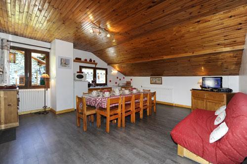 Location au ski Appartement 3 pièces 8 personnes - Chalet Le Genepi - Les Menuires - Séjour
