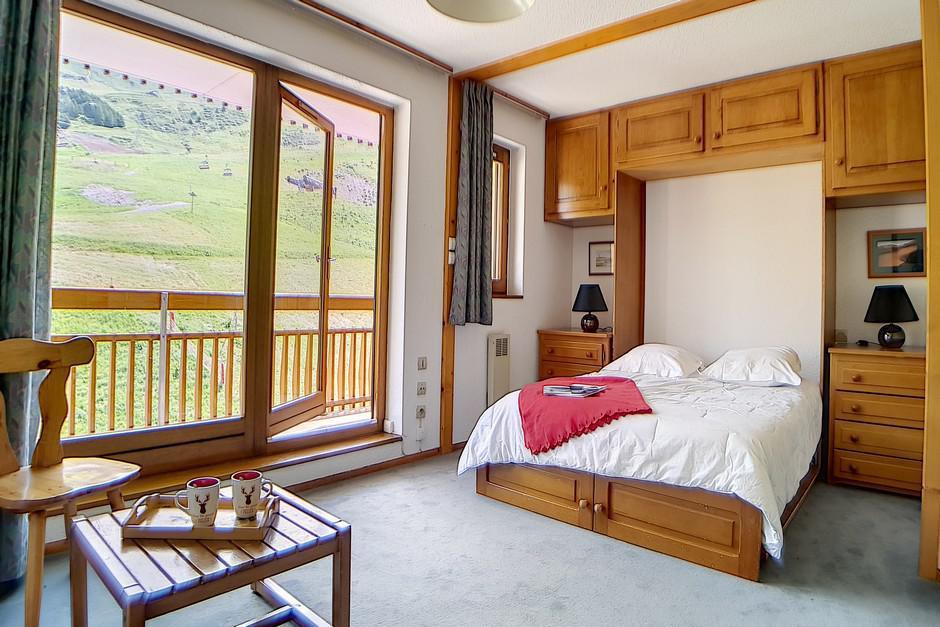 Location au ski Appartement 2 pièces 2 cabines 8 personnes (40) - La Residence Bellevue - Les Menuires - Canapé-lit