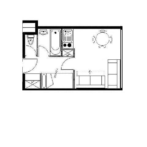 Location au ski Studio coin montagne 4 personnes (207) - La Residence Boedette - Les Menuires