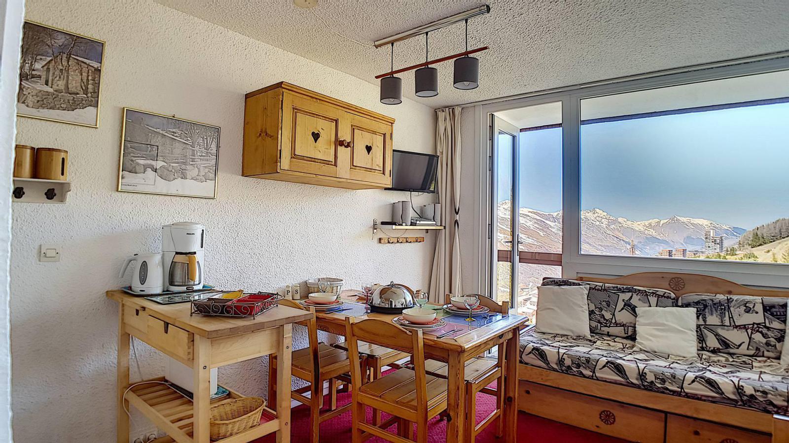 Location au ski Appartement duplex 2 pièces 5 personnes (807) - La Residence Boedette - Les Menuires - Coin repas