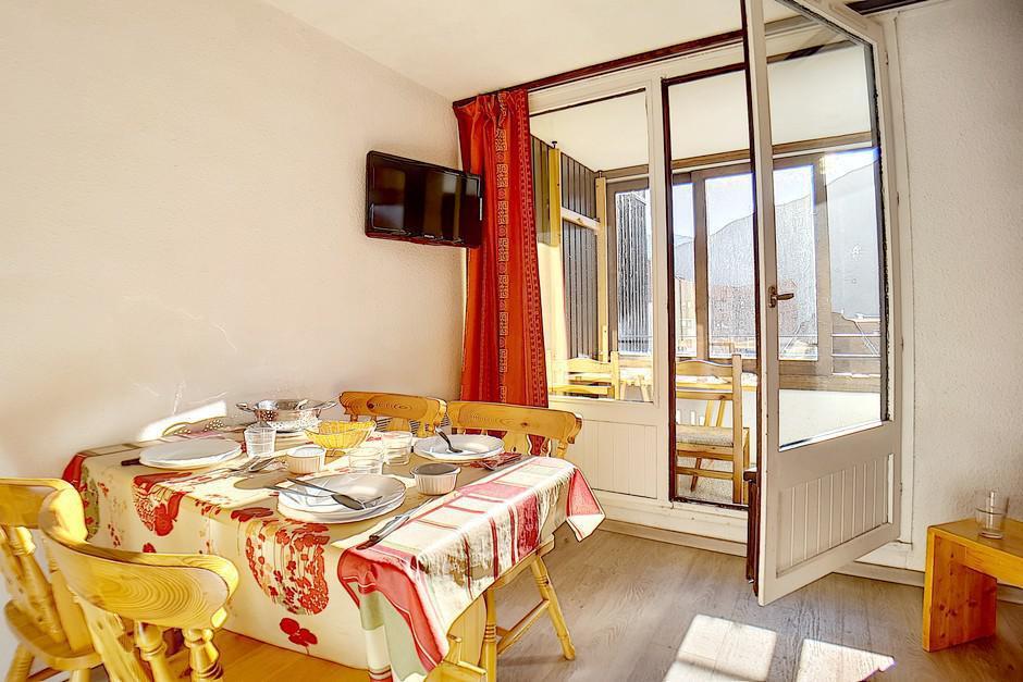 Location au ski Studio cabine 4 personnes (224) - La Residence Le Sorbier - Les Menuires - Salle de bains
