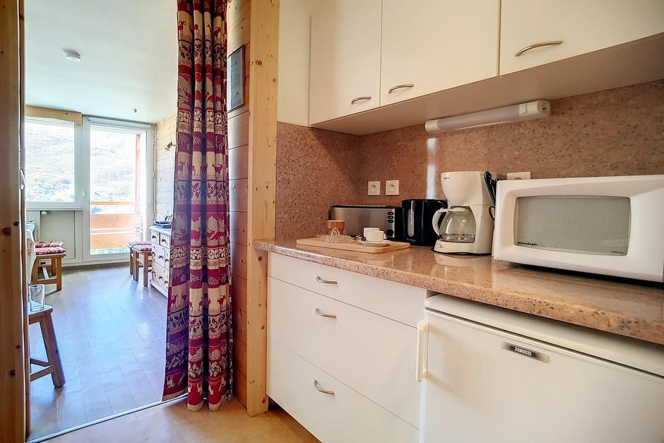 Location au ski Appartement duplex 2 pièces 5 personnes (E18) - La Residence Les Lauzes - Les Menuires - Kitchenette