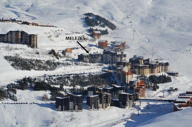 Location au ski La Residence Les Melezes - Les Menuires - Extérieur hiver