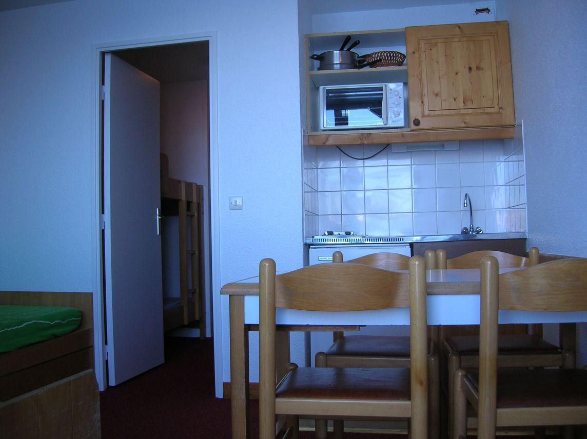 Location au ski Studio coin montagne 4 personnes (524) - La Residence Median - Les Menuires - Kitchenette