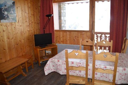 Location au ski Appartement 2 pièces cabine 4-6 personnes (312) - Les Cotes D'or Chalet Courmayeur - Les Menuires - Tv à écran plat