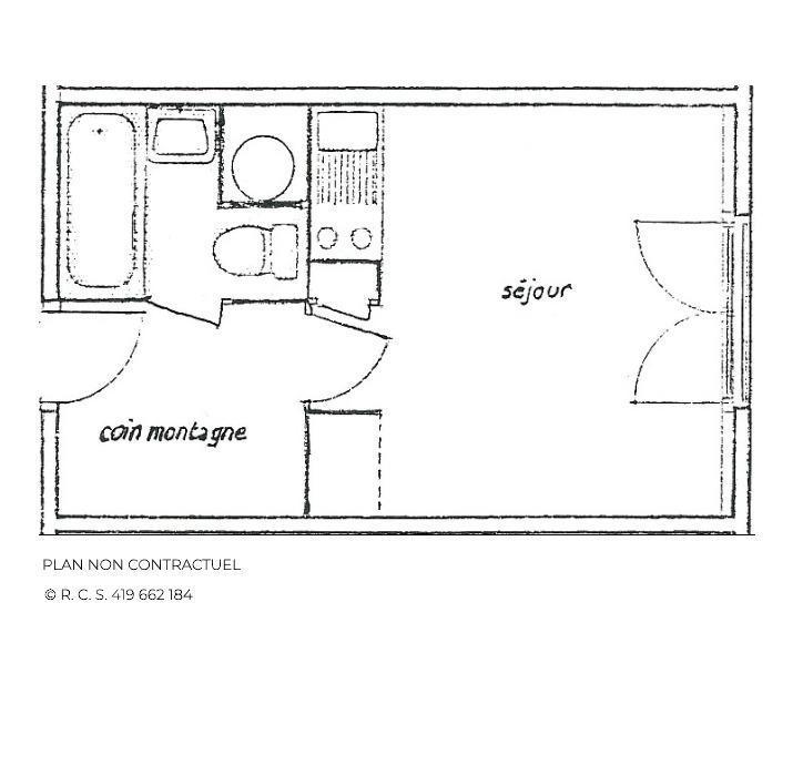 Location au ski Studio 3 personnes (131) - Residence Argousier - Les Menuires - Baignoire