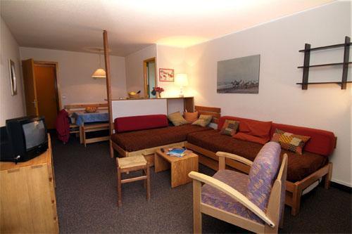 Location au ski Appartement 2 pièces 5 personnes - Residence Chanteneige Croisette - Les Menuires - Séjour