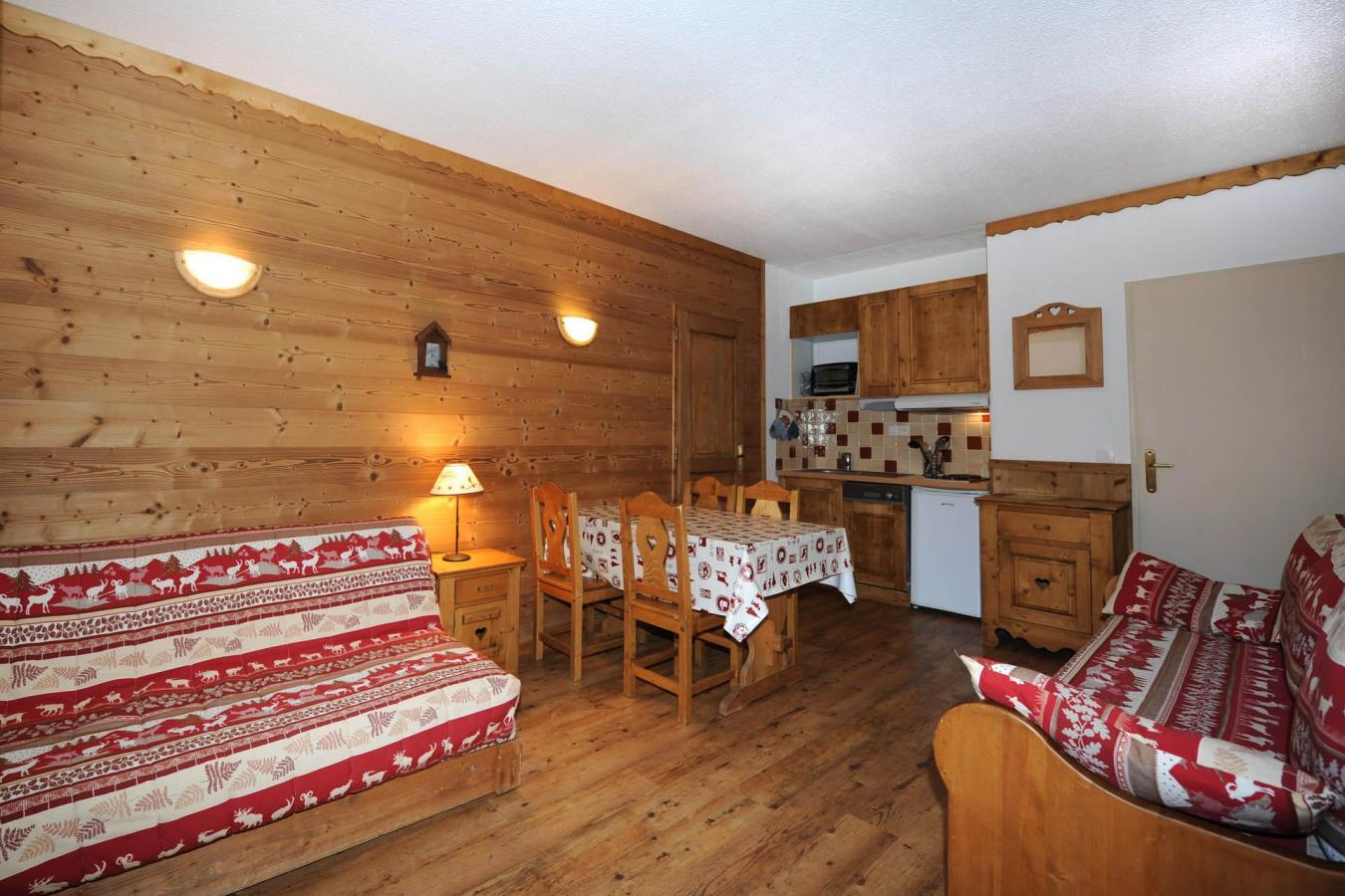 Location au ski Appartement 2 pièces 8 personnes (122) - Residence Lac Du Lou - Les Menuires - Extérieur hiver