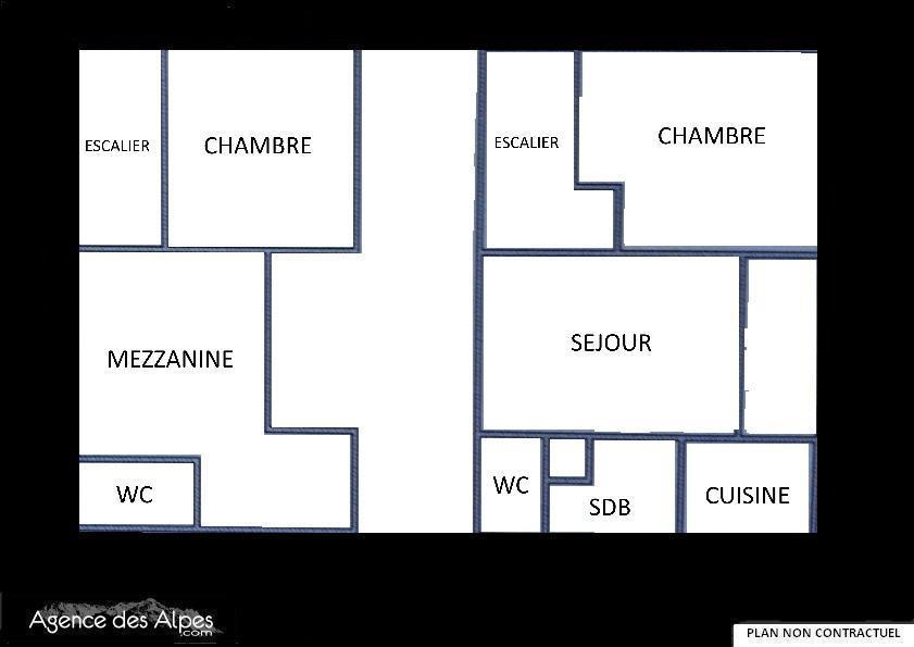 Location au ski Appartement 3 pièces mezzanine 7 personnes (C143) - Residence Le Jettay - Les Menuires