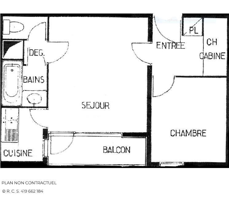 Location au ski Appartement 2 pièces 6 personnes (A7) - Residence Le Jettay - Les Menuires - Lits superposés