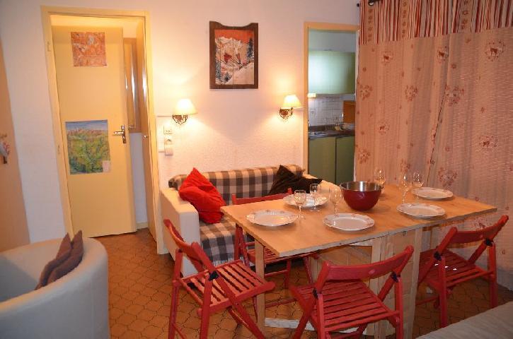 Location au ski Appartement 2 pièces coin montagne 4 personnes (C113) - Residence Le Jettay - Les Menuires - Séjour