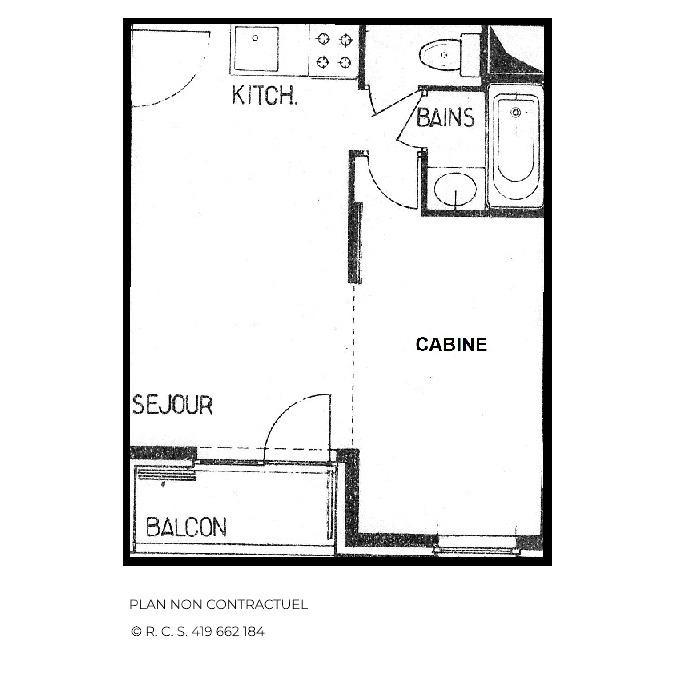 Location au ski Studio coin montagne 4 personnes (B66) - Residence Le Jettay - Les Menuires - Kitchenette