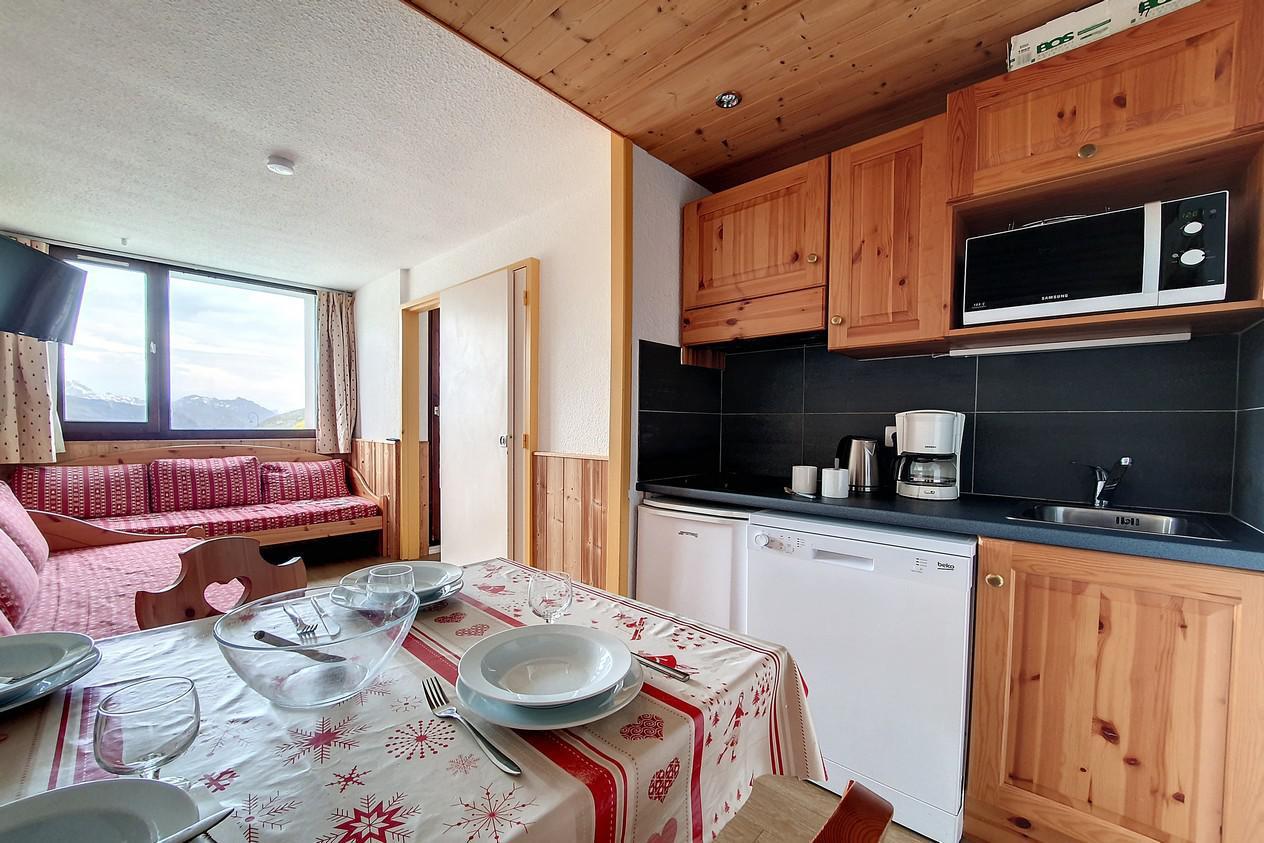Location au ski Appartement 2 pièces 4 personnes (218) - Residence Le Median - Les Menuires - Séjour