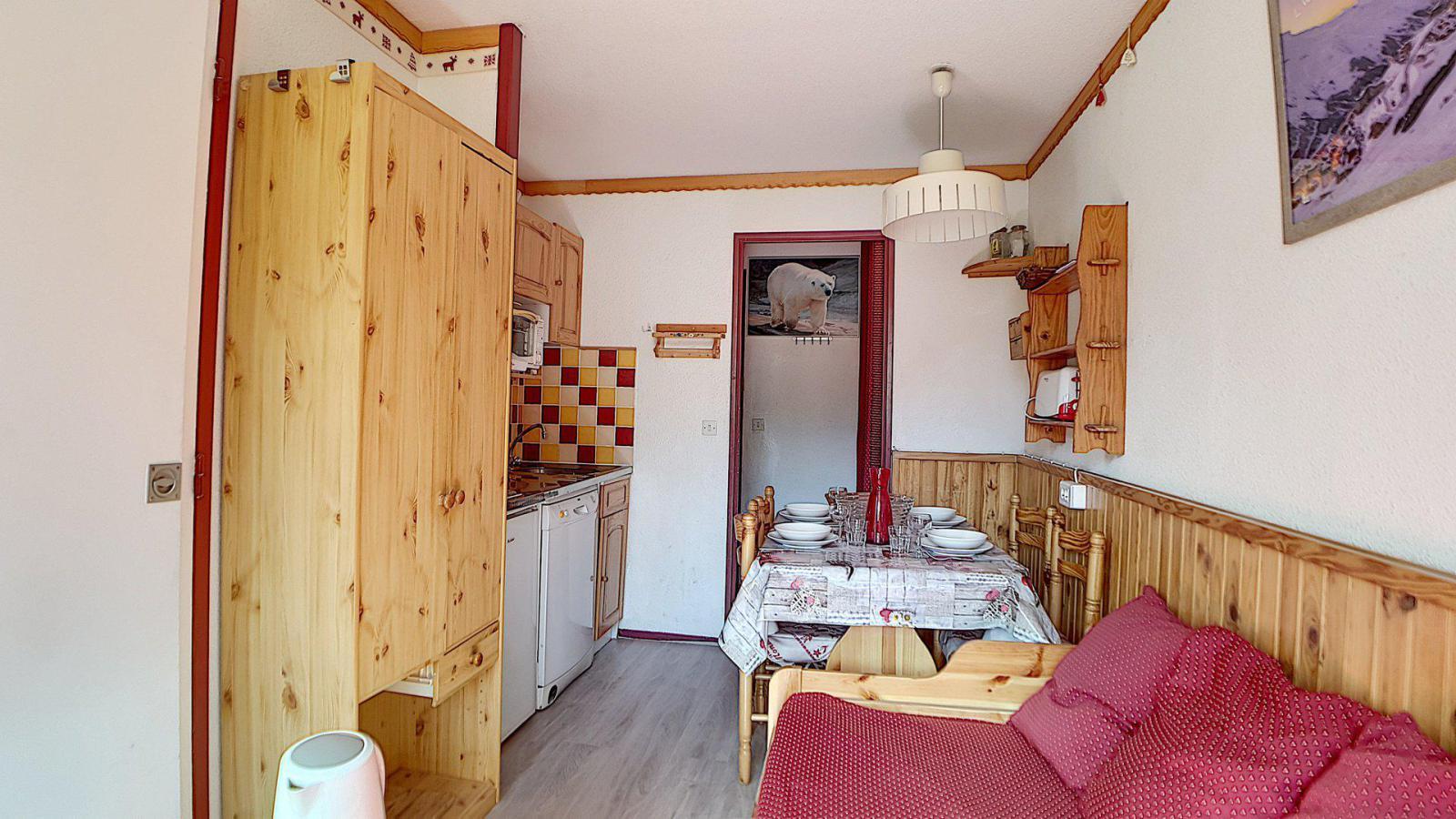 Location au ski Appartement 2 pièces 4 personnes (521) - Residence Le Median - Les Menuires - Lit double