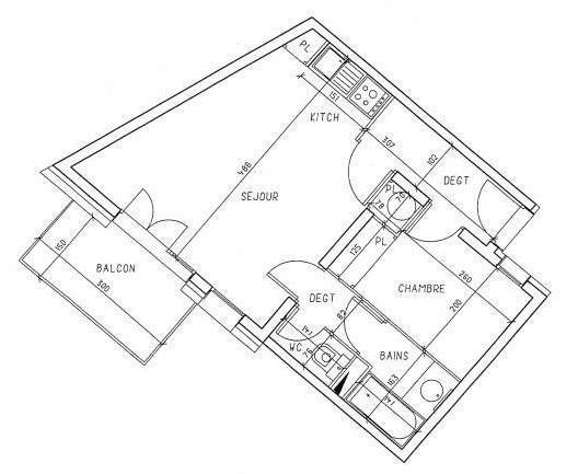 Location au ski Appartement 2 pièces cabine 6 personnes (535) - Residence Les Balcons D'olympie - Les Menuires